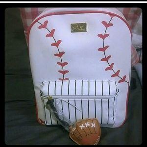 Last 2 Betsey Johnson baseball backpack
